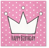 Servietten 33x33 cm - Princess party