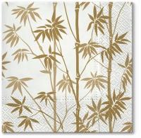 Servietten 33x33 cm - Bambuswald gold