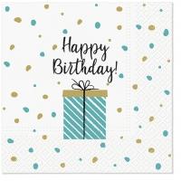 Servietten 33x33 cm - Birthday Gift