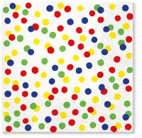 Servietten 33x33 cm - Dots Confetti colorful