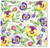 Servietten 33x33 cm - Beautiful Pansies