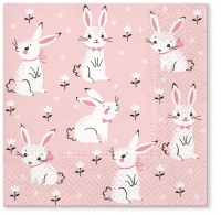 Servietten 33x33 cm - Field of Rabbits