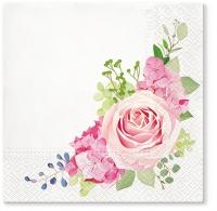 Servietten 33x33 cm - Nostalgic Rose