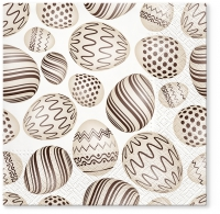 Servietten 33x33 cm - Eggs Pattern