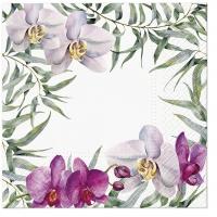 Servietten 33x33 cm - Elegant Orchid