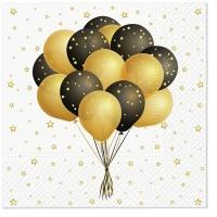 Servietten 33x33 cm - Flying Balloons