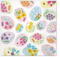 Servietten 33x33 cm - Flowered Eggs