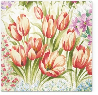 Servietten 33x33 cm - Bright Tulips