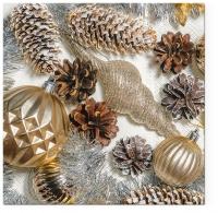 Servietten 33x33 cm - Frozen Christmas
