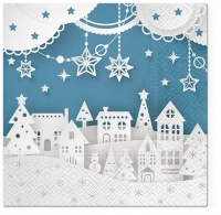 Servietten 33x33 cm - Christams town