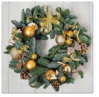 Servietten 33x33 cm - Golden Wreath