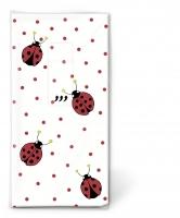Taschentücher - Ladybirds and dots