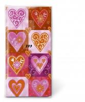 Taschentücher Filigree hearts
