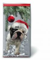 Taschentücher Santa dog