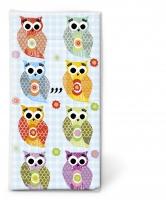 Taschentücher - Lustige Eulen