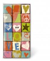 Taschentücher - Liebe und Frieden