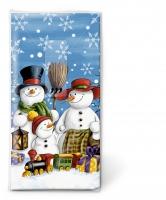Taschentücher Snowman family