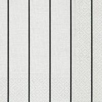 Servietten 25x25 cm - Heim weiß/schwarz