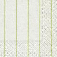 Servietten 25x25 cm - Haus weiß/grün