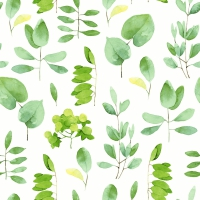 Servietten 25x25 cm - Fresh leaves