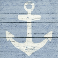 Servietten 25x25 cm - Anchor sign blue