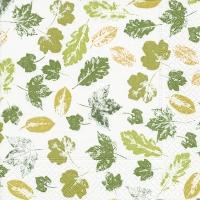 Servietten 25x25 cm - Gestanzte Blätter