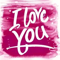 Servietten 24x24 cm - Pink love
