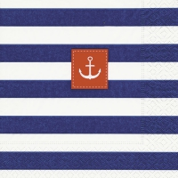 Servietten 25x25 cm - Sailor stripes