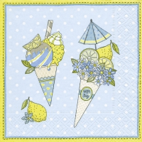 Servietten 25x25 cm - Ice cream cones