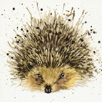 Servietten 25x25 cm - Cute hedgehog
