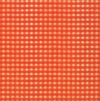 Servietten 25x25 cm - Vichy orange