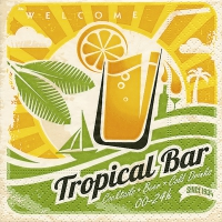 Servietten 25x25 cm - Tropical bar