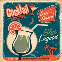 Cocktail Servietten Blue lagoon