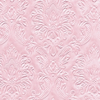 Servietten 25x25 cm - Moments Ornament soft pink