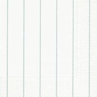 Servietten 33x33 cm - Haus weiß/aqua