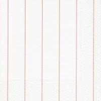 Servietten 33x33 cm - Home weiß/rosé