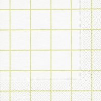 Servietten 33x33 cm - Home square white/green