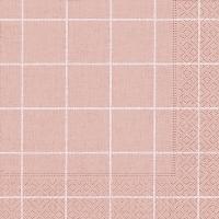 Servietten 33x33 cm - Haus quadratisch rosé