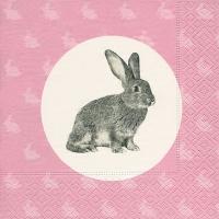 Lunch Servietten Portrait of a rabbit