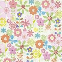 Servietten 33x33 cm - Simple flowers