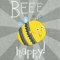 Servietten 33x33 cm - Beee happy