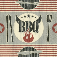 Servietten 33x33 cm - Five star BBQ