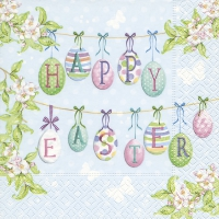 Servietten 33x33 cm - Happy Easter eggs