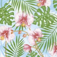 Servietten 33x33 cm - Tropische Pflanzen