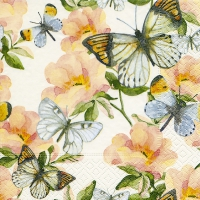 Servietten 33x33 cm - Jardin de papillons