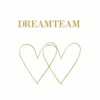 Servietten 33x33 cm - Dreamteam