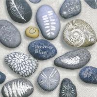 Servietten 33x33 cm - Bemalte Steine