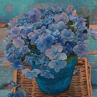 Lunch Servietten Blue hydrangea