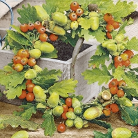 Lunch Servietten Oak wreath