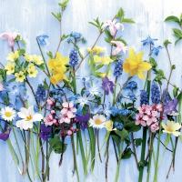 Servietten 33x33 cm - Frühlingsblumen